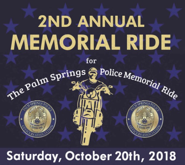 Last Chance!  Our 2nd Annual Memorial Ride is this Saturday!